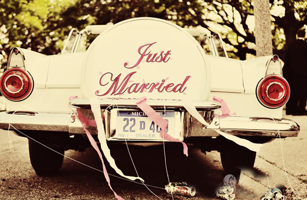 wedding day guide - just married image